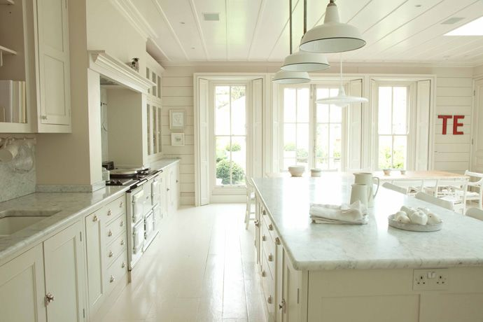 Henhurst Interiors: Plain English Kitchens - love the floor and all of this room