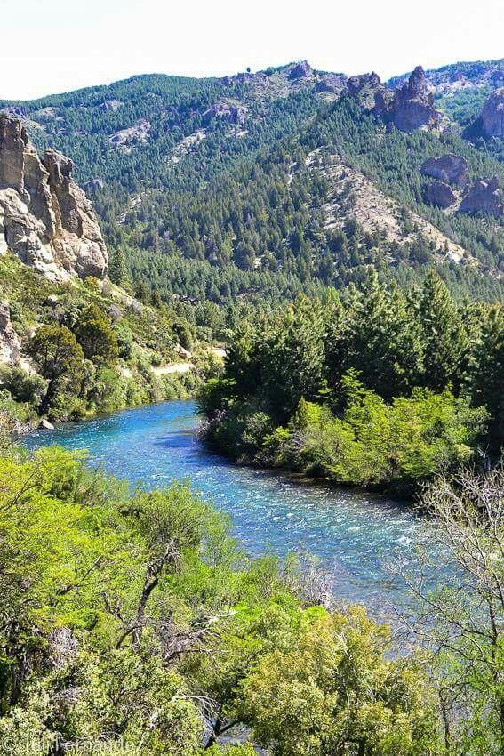 Rio Caleufu. San Martin de los Andes. Neuquen. Patagonia. Argentina