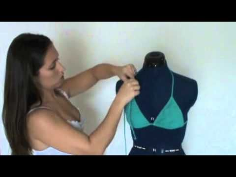 How to tie a regular string bikini top different ways(The last one is really cool!)