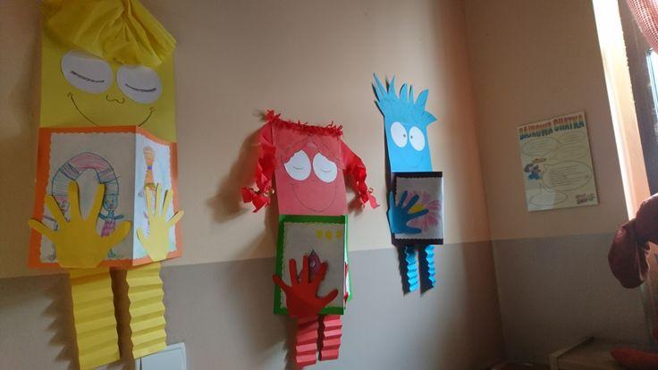 Mole książkowe z papieru, dekoracja do biblioteki dla dzieci, DIY