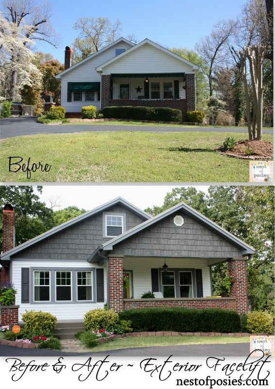 facelift ideas for a home {exterior remodel and curb appeal} via Nest of Posies