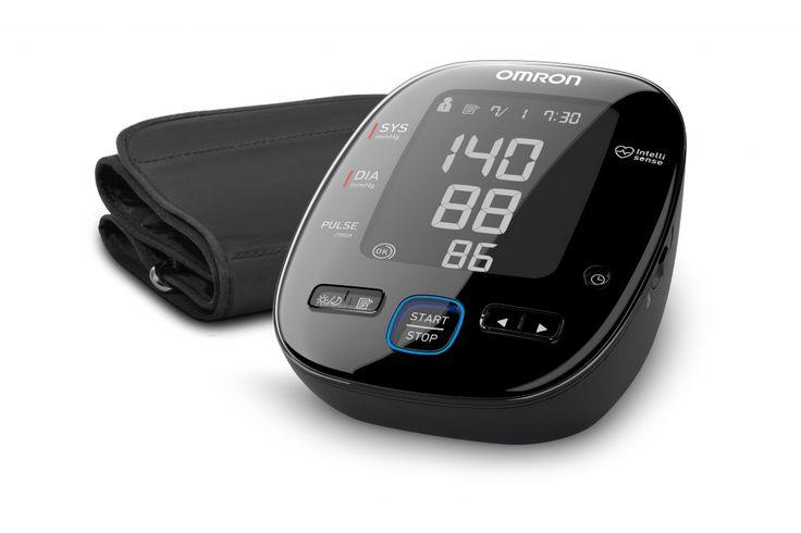"""OMRON MIT5s Connect továbbfejlesztett, új vonalú """"Black Line"""" vérnyomásmérő készülék Bluetooth adatátvitellel, OMRON connect okostelefon alkalmazással"""