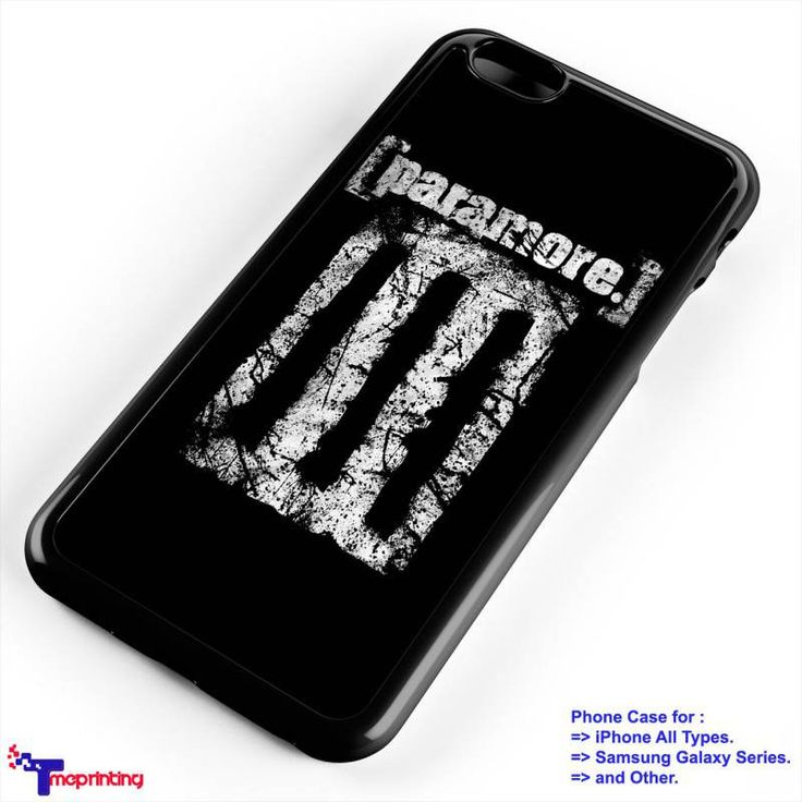 Paramore Logo Band Merch - Personalized iPhone 7 Case, iPhone 6/6S Plus, 5 5S SE, 7S Plus, Samsung Galaxy S5 S6 S7 S8 Case, and Other