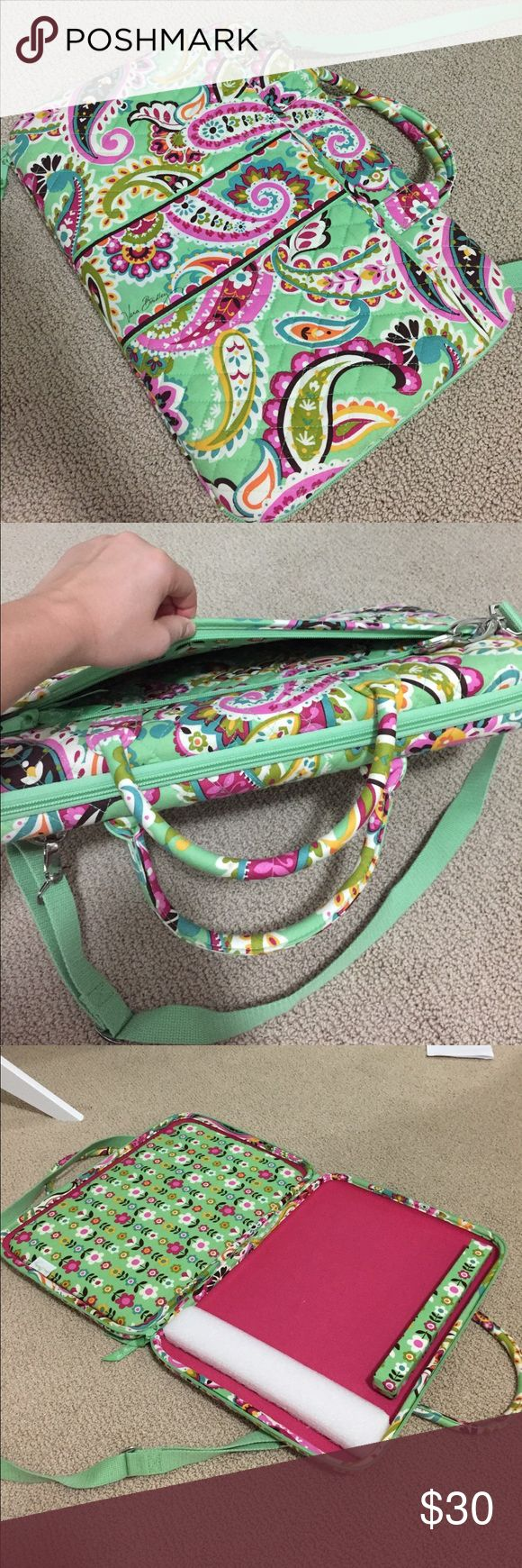 New unused Vera Bradley laptop bag. Tutti-frutti Tutti-frutti Vera Bradley laptop bag. Unused and new without tags. Front pockets in both sides. Zipper. Small handles and long cross body strap. Vera Bradley Bags Laptop Bags