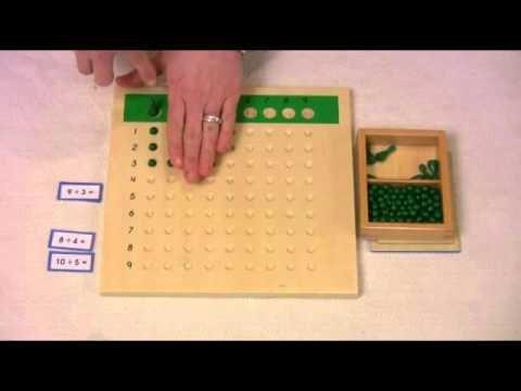 Montessori Lesson using the Division Board by My Works Montessori & Montessori Education Supplies
