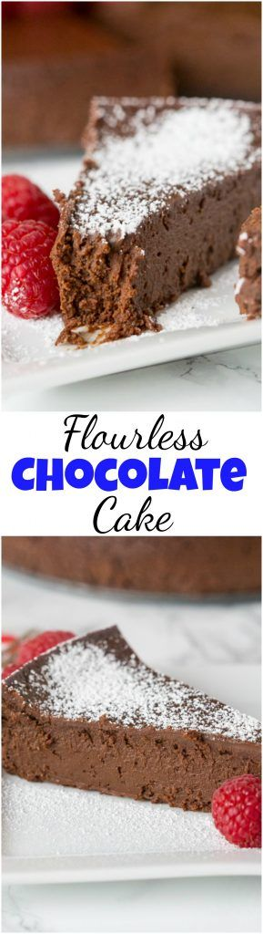 Flourless Chocolate Cake - A chocolate lover's dream A rich, dense, chocolate-y and decadent chocolate flourless cake. Naturally gluten free and just 3 ingredients! #cake #chocolate #glutenfree #chocolatecake #dessert #food #recipe