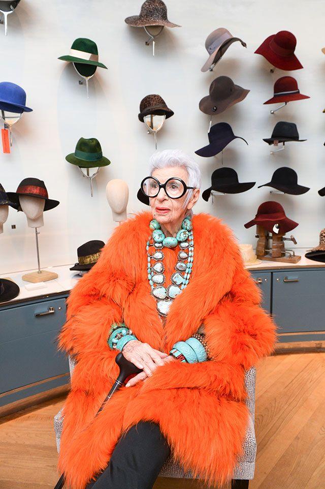 Iris Apfel... hats are useful