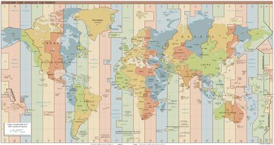 World Time Zones Map - Time zones – Travel guide at Wikivoyage
