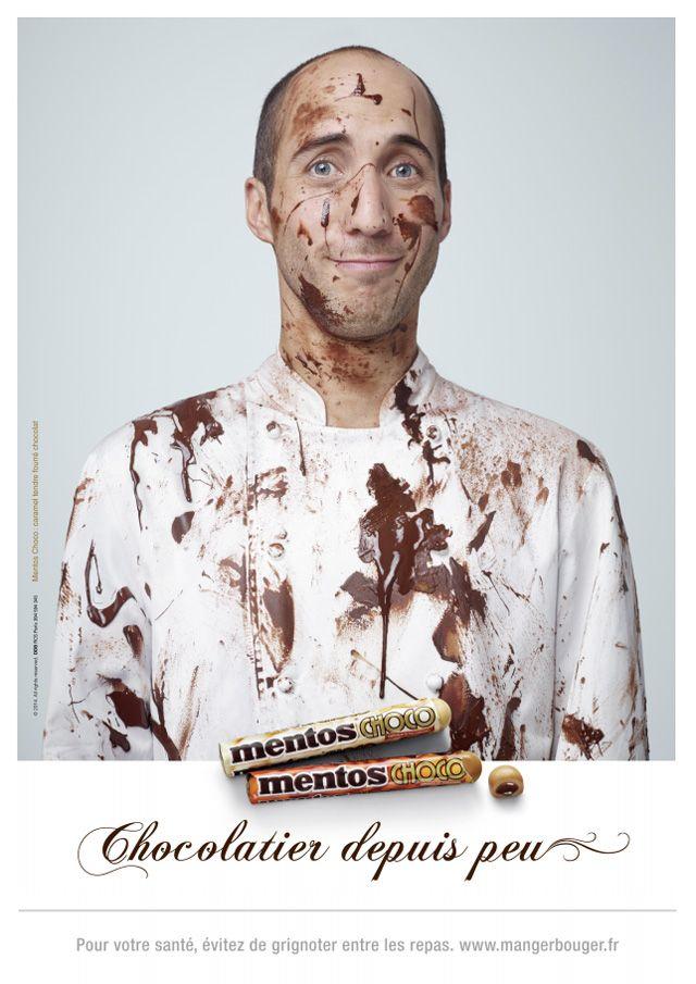 Lancement du nouveau Mentos tout chocolat par l'agence DDB.