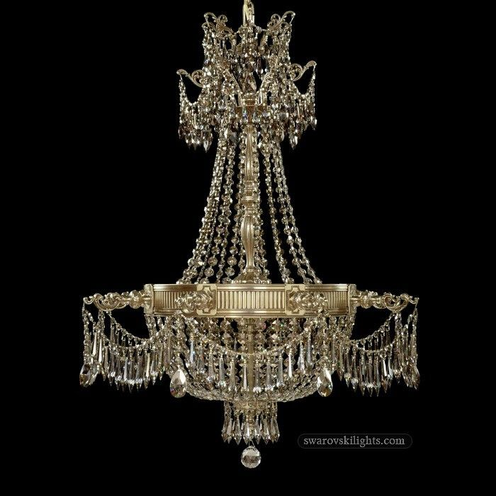 20 best Brass Crystal Chandeliers images on Pinterest | Crystal ...