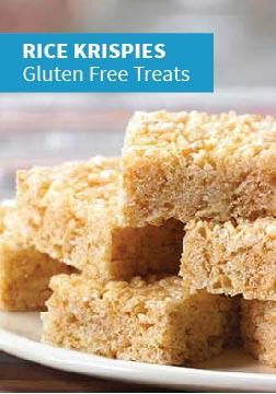 Rice Krispies Gluten-Free Treats -- Made with Rice Krispies® Gluten Free cereal, gluten-free marshmallows, and margarine, this recipe lets your kids enjoy the timeless taste of Rice Krispies Treats®.