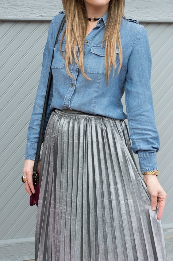 Pleated Skirt Fashion Tips | The Blue Eyed Dove