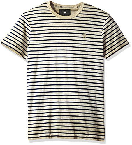 G-Star Raw Men's Rancis Stripe R T S/s With a printed stripe pattern and mottled over dye finish, this contemporary t-shirt is big on visual textureEither layer it into your outfit for extra depth, or make it the center piece of a laid-back look. Thanks to durable construction, it's sure to be a favorite for seasons to comeCotton jersey, specially over dyed for a one-off, mottled finish  7 for all mankind, calvin jeans, Diesel, dl1961, g-star, GStar, guess jeans, Holl