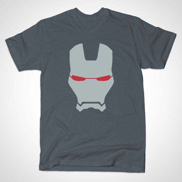 War Machine Helmet by MINIMALISTHEROES - #WarMachine #Marvel #IronMan #TShirt #TeePublic #Shirt #Comics #ComicBooks