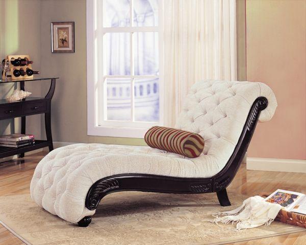 Elegantes Design Liegesessel Dekokissen Wohnzimmer Mobel Sessel