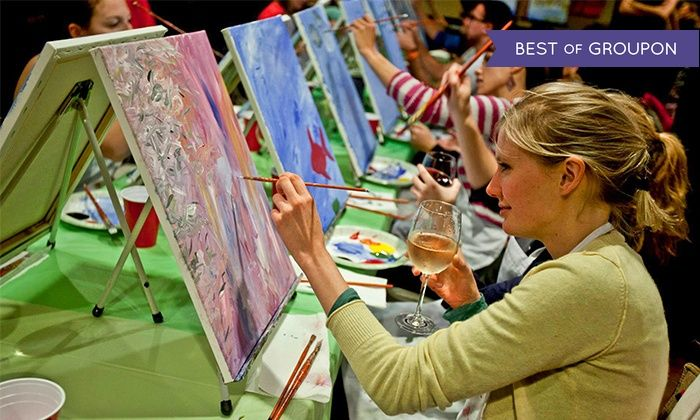 Paint Nite - Central Jersey: $25 for Two-Hour Social Painting Event from Paint Nite ($45 Value)