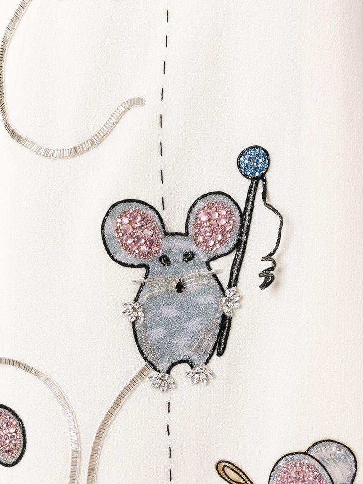 Dolce & Gabbana платье с вышивкой мышей