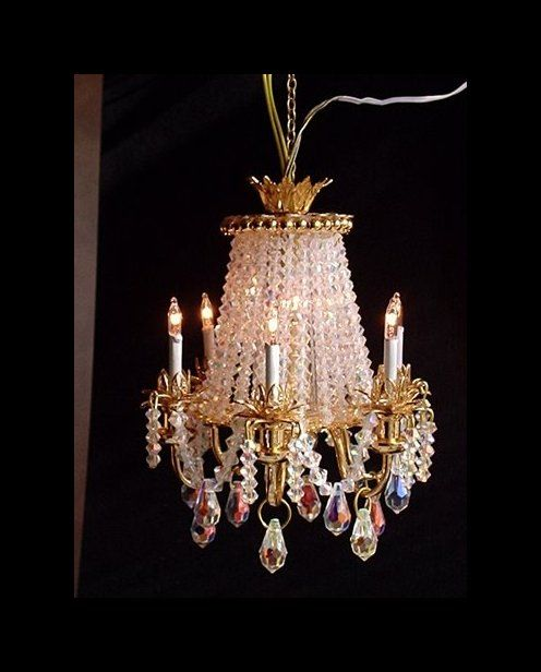 Swarovski Crystal Dollhouse Chandelier