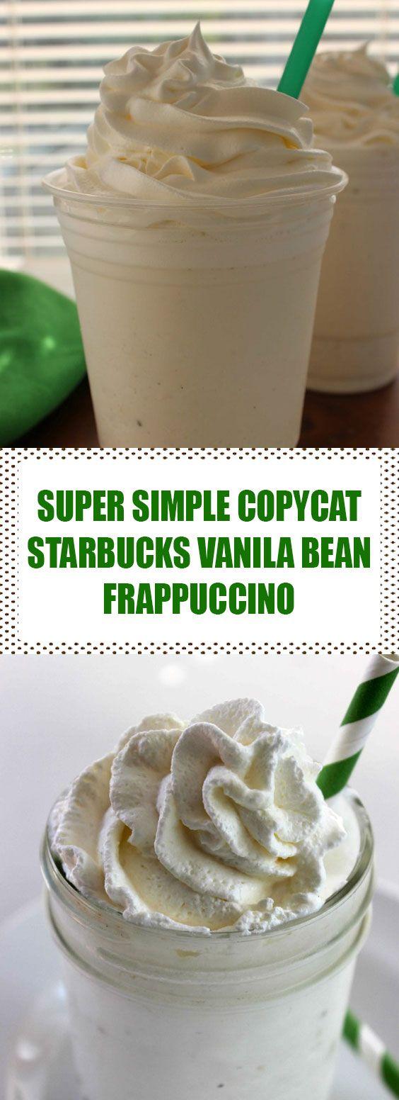 Super Simple Copycat Starbucks Vanilla Bean Frappuccino | Everybody can make thi…  – Reese