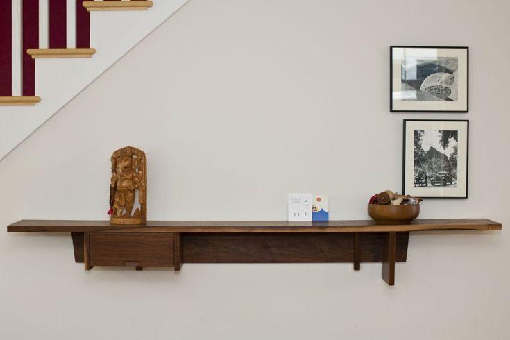 for sale at wood design wall mount shelf the wall. Black Bedroom Furniture Sets. Home Design Ideas