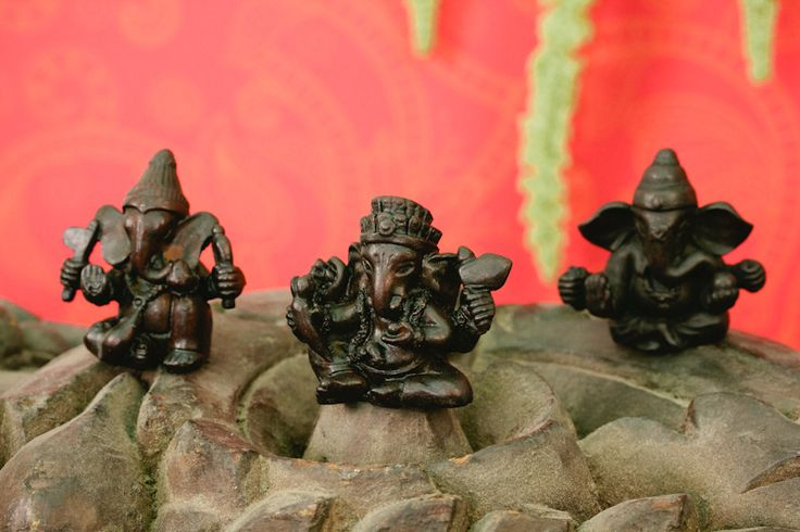 Set of 3 Resin Ganesh Figurines, 2""