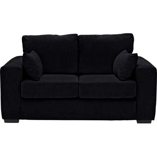 Buy Argos Home Eton 2 Seater Fabric Sofa Black Sofas Argos Black Fabric Sofa Fabric Sofa Argos Home