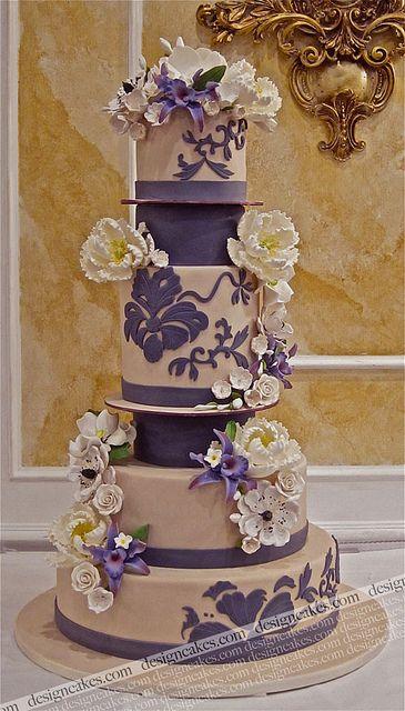 Designer cake / engagement cake by Design Cakes, via Flickr