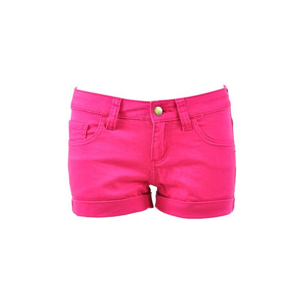 Monkee Genes Pink hot pants – Monkee Genes shorts – womens hot pants... ($48) ❤ liked on Polyvore