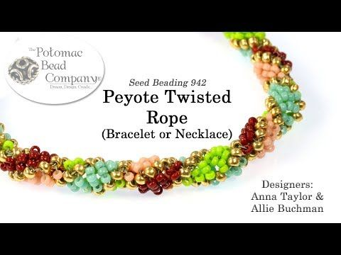 Peyote Twisted Rope (Tutorial) - YouTube