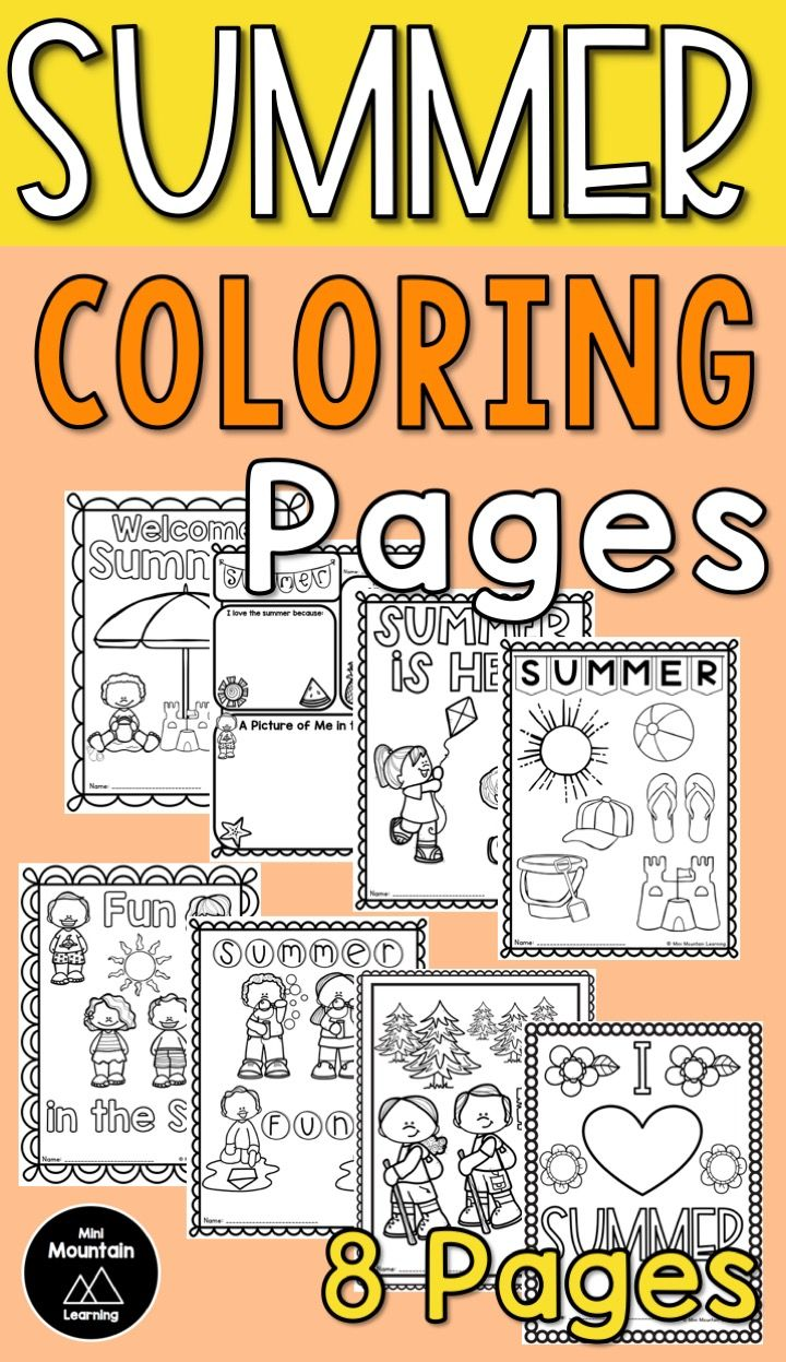 Summer coloring pages | Summer printables | Summer coloring activity