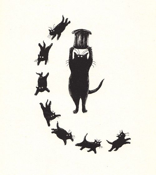 """Edward Gorey illustrated the """"Old Possums Book Of Practical Cats"""" for one of the most beautiful poets, T.S Eliot."""