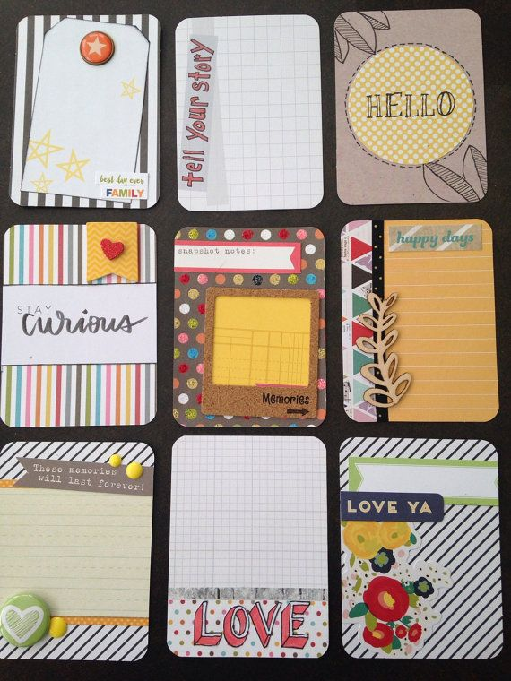 Handmade project life card set- Snap!