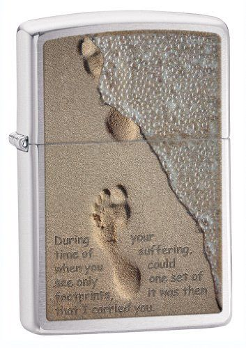 Zippo Brushed Chrome Lighter (Silver, 5 1/2x3 1/2-cm) by Zippo. Save 36 Off!. $17.24. New splashed texture enhancement defies you to keep from touching it to see if it's wet.