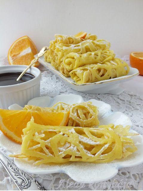 Aleda konyhája: Csipkepalacsinta narancsos csokoládéöntettel