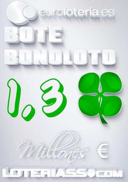 Bonoloto, Bote, 1.300.000 €, Viernes 24/01/2013