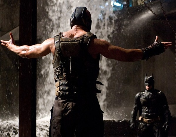 dark knight rises. Bane and Batman <3