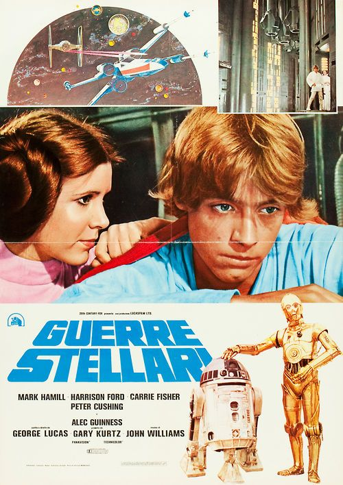 Foreign posters are always the best because look, Luke and Leia are actually wearing colors! Like we need to know who is male and female by the colors they wear...