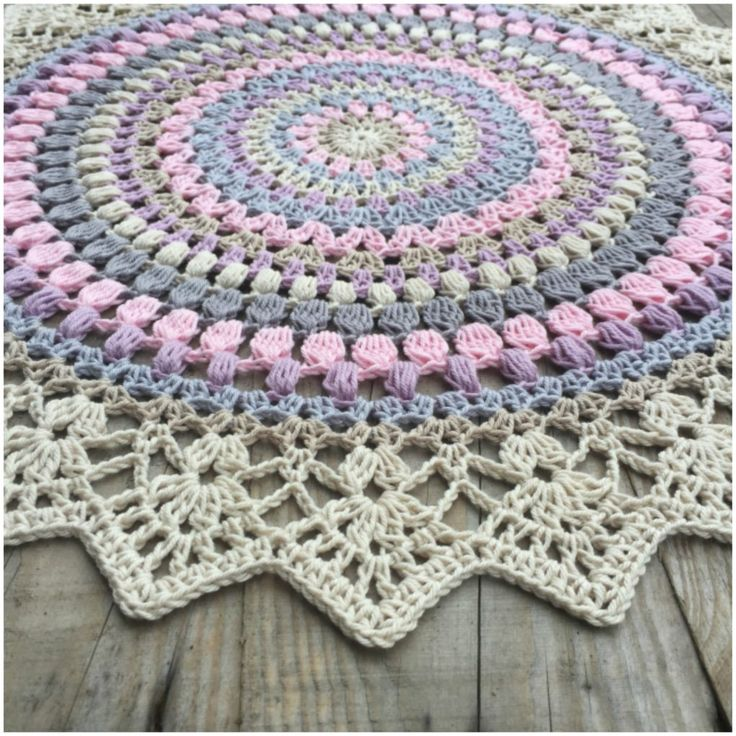 Blooming Flower Square Crochet Pattern