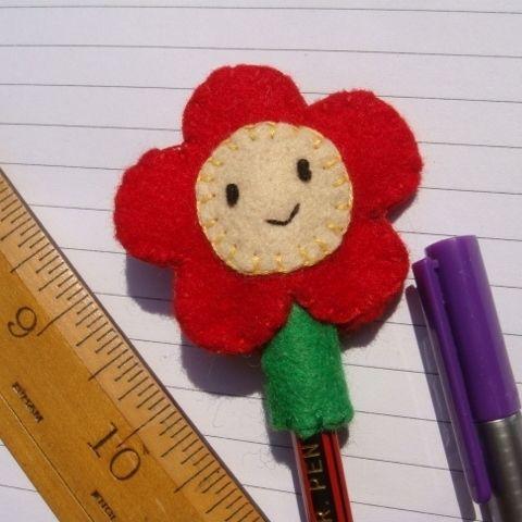 Flower Pencil Topper. Back to school or Teacher gift