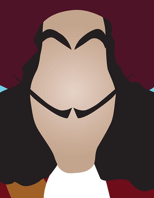 #Disney Side Disney Minimalist Villains by Chelsea Mitchell captain hook Disney Minimalist Villains