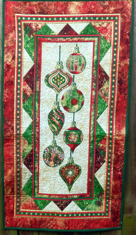 Christmas Table Runner Wall Hanging Runners Red Green