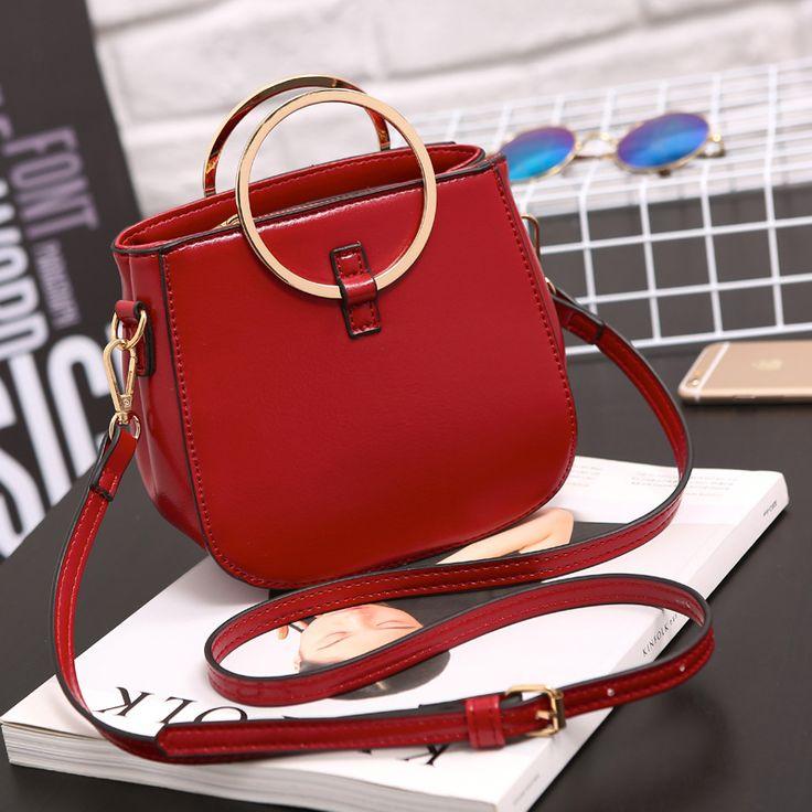 2017 Summer New Metal Circular Hand Strap Luxury Handbags Women Bags Designer Women Messenger bags Cross-body Bag bolsa feminina