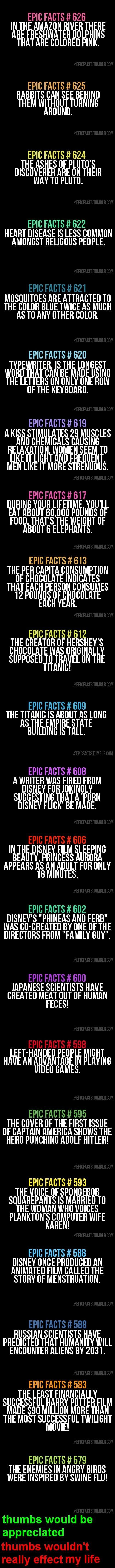 Because one day I will mention these useless facts to people