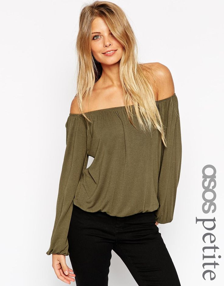 ASOS PETITE Off Shoulder Slouchy Top
