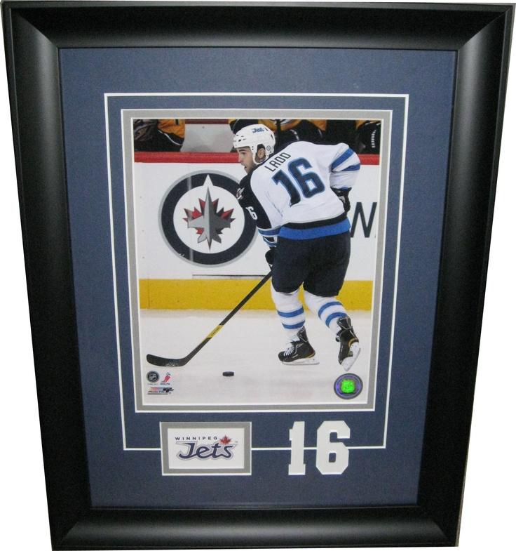 "Andrew Ladd Winnipeg Jets custom framed 8x10 - ""The Number Series"""