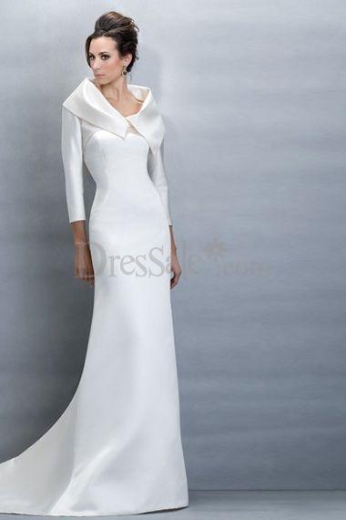 Clean and Clear Maternity Beach Wedding Dress  Features Detachable Bolero  $130.99