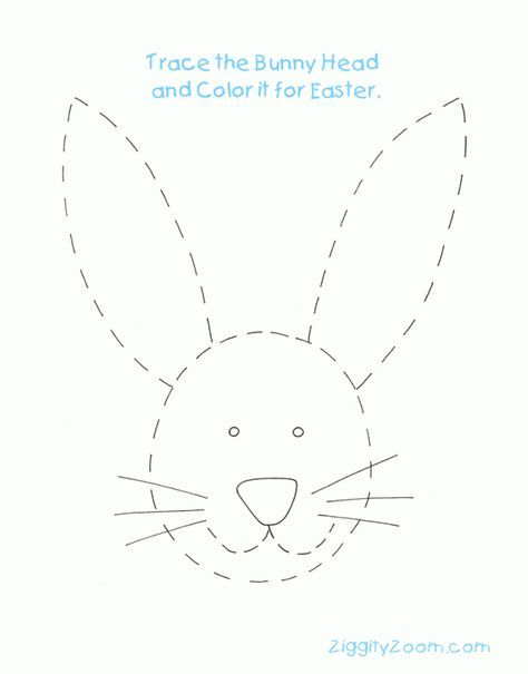 Easter Rabbit Tracing Worksheet for Easter Activity | Ziggity Zoom