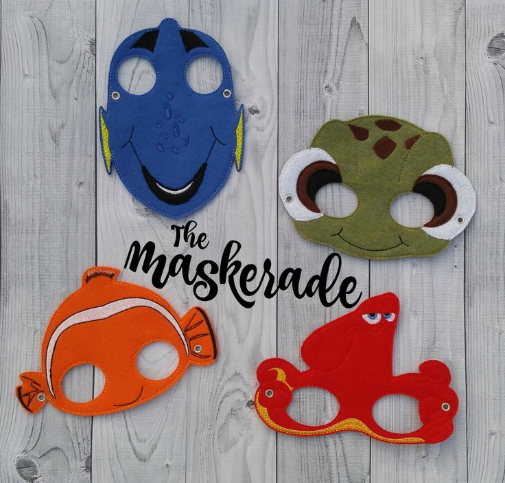 Finding Nemo - Finding Dory Inspired Felt Mask Party Favor, Dress Up, Imagination, Play, Costume by TheMaskerade on Etsy https://www.etsy.com/listing/295291583/finding-nemo-finding-dory-inspired-felt