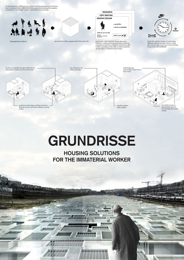 """""""Grundrisse, Housing Solutions for the Immaterial Worker"""" by Microcities wins first prize at Think-Space   Moral borders competition! - an affordable dystopia"""