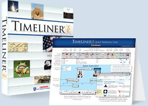 Computer based time line option. I currently have Timeliner 3D, which is Mac only, and was slightly cheaper at the time. This looks like it could be more child friendly. This one looks like an alternative worth investigating. I'm only now beginning to use Timeliner 3D with my son - I've been using for my own projects.  When visiting the Scholastic site through this link, ignore the demands to schedule a visit - type the name into the regular Scholastic ordering page to find the pricing.